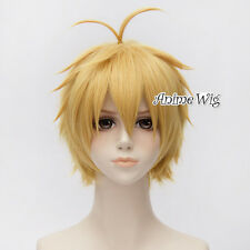 The Seven Deadly Sins Meliodas Wrath Men Short Blonde Layered Anime Cosplay Wig