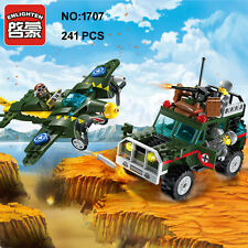 Enlighten 1707 Military Army Bomber Jeep Car Building Block Toys