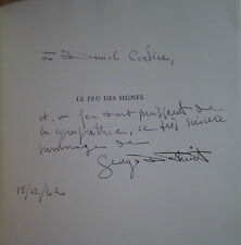 CRITIQUE D'ART / Georges DUTHUIT : LE FEU DES SIGNES / envoi à Daniel CORDIER