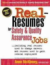 Real-Resumes For Safety & Quality Assurance Jobs