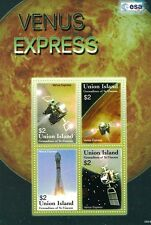 ESA Venus Express (VEX) Spacecraft Orbiter Space Stamp Sheet (2006 Union Island)