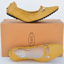TOD'S New sz 39.5 - 9.5 Designer Womens Leather Ballerina Ballet Flats Shoes