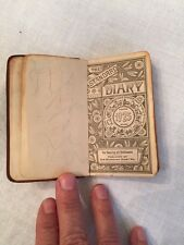VINTAGE Pocket Leather Diary 1925 Facts Postage Info Unusual Decor Craft