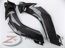 2011-2015 ZX-10R ZX10R Upper Front Dash Handle Bar Panels 100% Carbon Fiber