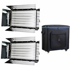 2x6 banks+fly case 1650W Pro Fluorescent Light 6 Bank Continuous Lighting DayLig
