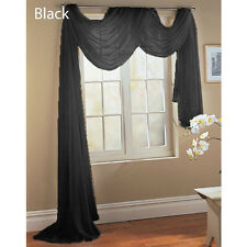 """WINDOW SHEER SCARF  VOILE WINDOW  CURTAIN DRAPES VALANCE 37""""X216"""""""