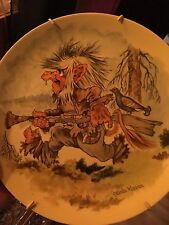 Vintage Troll Norway Trolls Faery Pagan Wicca Rare Plate From Arctic Norway