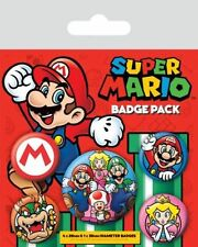 Official Nintendo Super Mario Bros - Characters - 5 Badge Pack