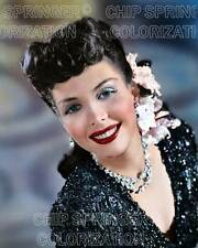 ANN MILLER WEARING A BEADED DRESS 8X10 BEAUTIFUL COLOR PHOTO BY CHIP SPRINGER