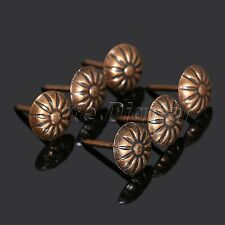 100Pcs Antique Bronze Upholstery Nails Jewelry Box Tacks Sofa Decorative Studs