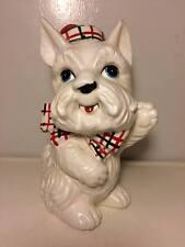 Vintage ceramic Scotty dog coin bank