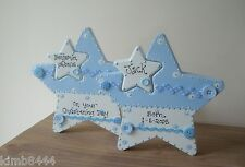 PERSONALISED WOODEN STAR  FOR NEW BABY/CHRISTENING GIFT/BIRTHDAY KEEPSAKE