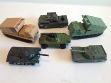 Lot Of 6 Military Army Vehicles - Matchbox, Majorette, SM. Abrams Tank,missile