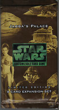 STAR WARS CCG JABBA'S PALACE BLACK BORDER SEALED BOOSTER PACK OF 9 CARDS