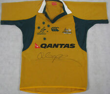 QUADE COOPER Hand Signed Australia Wallabies Player Cut Jersey + HUGE Signature