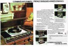 Publicité Advertising 1974 (2 pages) La Chaine Hi-Fi Philips