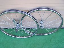 PAIR  BICYCLE  20 x 2.125 STEEL WHEELS  HEAVY DUTY COASTER BRAKE REAR 36 12ga