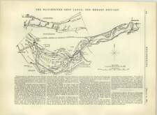 1883 The Mersey Estuary On The Manchester Ship Canal