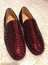 NIB Christian Louboutin Roller Boat Orthodoxe Spike Patent Low Sneaker Flats 45