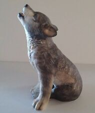 """1992 Lenox 6 7/8"""" in Height Gray Wolf Pup   Smithsonian Institution 1992"""