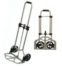 HEAVY DUTY 45KG FOLDING SACK TRUCK ALUMINIUM LUGGAGE FOLDABLE TROLLEY CART