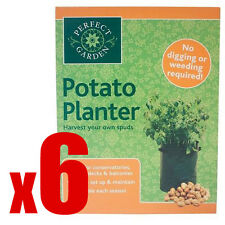 6 x Potato Grow Bag Planter - Grow Your Own POTATOES POTATO Sack Spuds Tub Patio