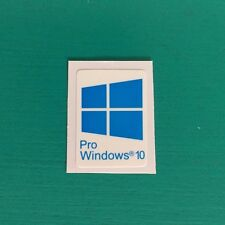 1 PCS Windows 10 Pro Blue Sticker Badge Logo Decal Cyan Color Win 10 USA Seller