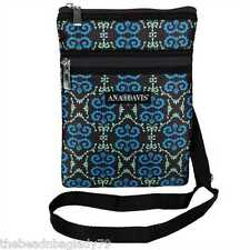 NEW ANA DAVIS TEAL GREEN LYRICAL ON THE GO BAG PURSE TABLET CROSS BODY