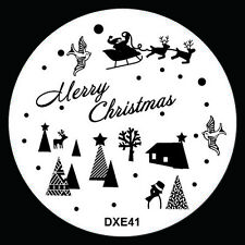 NEW Design Xmas Nail Art Image Stamp Stamping Plate Manicure Template Tool DX-41