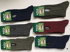 6 pairs LADIES HIGHT QUALITY CHUNKY THERMAL WOOL SOCKS HIKE BOOT UK SIZE 4-7 BSK