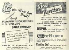 1953 Adcocks Waterloo Road End W3 Paint Remover Ad