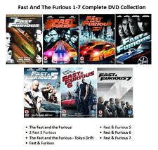 FAST AND THE FURIOUS ALL 7 MOVIE FILM COLLECTION PART 1 2 3 4 5 6 7 New Sealed