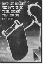 SKATEBOARDING MOTIVATIONAL PRINT 05 MOTIVATION QUOTE POSTER SKATEBOARD SKATE