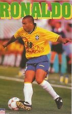 RONALDO BRAZIL NATIONAL TEAM Original Starline Poster MINI Promo Piece 3x5