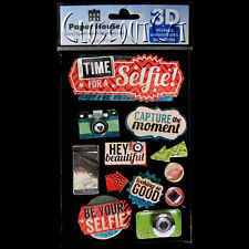 PAPER HOUSE 3D Time for a Selfie Looking Good Photo Camera STICKER PACK FREESHIP