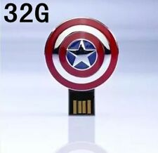 Captain American USB Flash Drives Cute Gift box 32G memory stick Movie Hero Gift