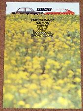 1972 FIAT 128 la brochure commerciale-RALLYE, SL, saloon, estate, 1100 1300