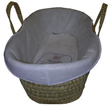 PADDED MOSES BASKET LINER - extra padding for your moses basket - FREE POST UK