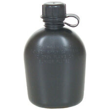 Government Issue US Military Surplus 1 Quart Canteen Rugged Lightweight Black