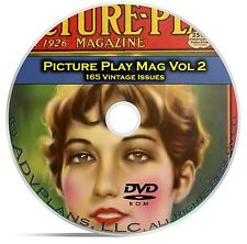 Picture Play Magazine, Vol 2, 165 Fan Issues, Golden Age Hollywood, DVD CD C18