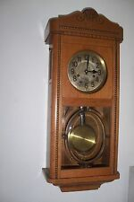 0008-Antique German Junghans 3/4 Westminster chime wall clock