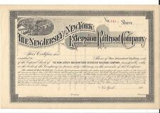 THE NEW JERSEY AND NEW YORK EXTENSION RAILROAD COMPANY...1880'S STOCK