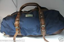 New Polo Ralph Lauren Blue Nylon Leather Duffle bag