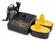 (2)18V 3.0AH Battery+(1)Charger for Dewalt DW9096 DW9095 DC9096 Battery Pack