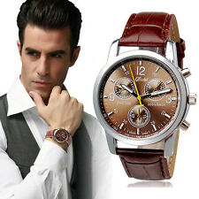 Luxury Crocodile Faux Leather Mens Watch  Analog Watches Christmas UK