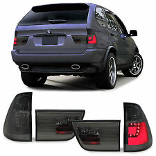 Black Smoked finish LED lightbar tail lights rear lights for BMW X5 E53