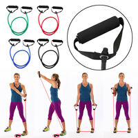 Fitness Resistance Band Rope Tube Elastic Exercise for Yoga Pilates Workout UR