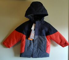 NWT $60 Children's Place Boys 2T Winter Coat 3 IN 1 Navy Orange Gray NEW #803317