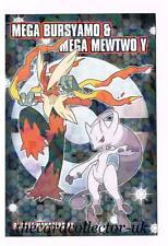 POKEMON Giapponese xy1 scheda di bromuro di FRIZZANTE Mega mewtwo & MEGA Blaziken
