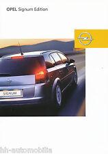 Opel Signum Edition Prospekt 11/04 brochure 2004 Auto PKWs Deutschland Broschüre